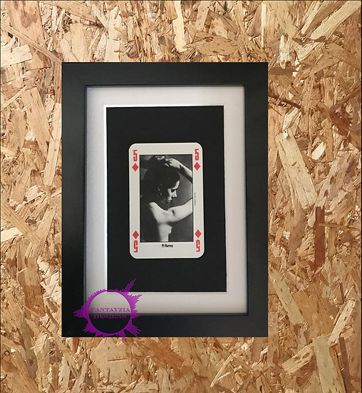 PJ Harvey NME Framed Vintage Card