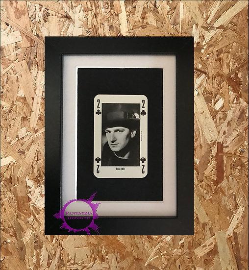 Bono (U2) NME Framed Vintage Card