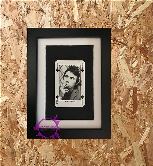 Paul Weller (The Jam) NME Framed Vintage Card