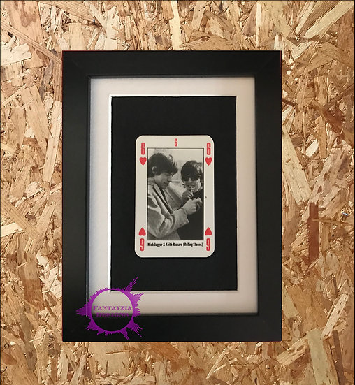 Mick Jagger & Keith Richards (Rolling Stones) NME Framed Vintage Card