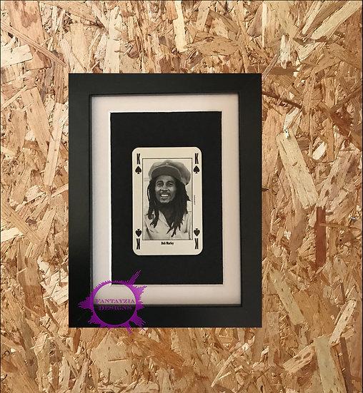 Bob Marley NME Framed Vintage Card