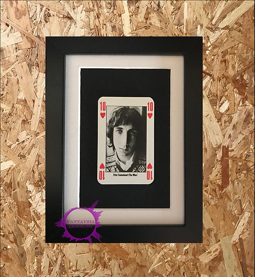 Pete Townsend (The Who) NME Framed Vintage Card