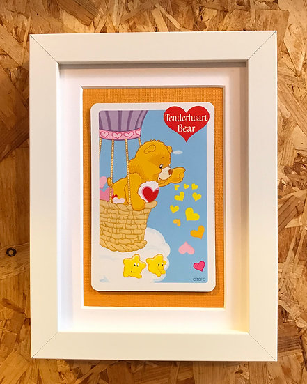 Tender Heart Bear - Care Bears Framed Collectors Card.