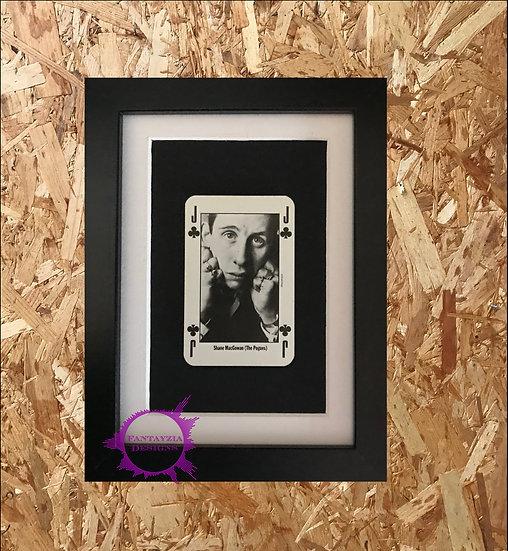 Shane MacGowen NME Framed Vintage Card