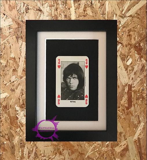 Neil Young NME Framed Vintage Card