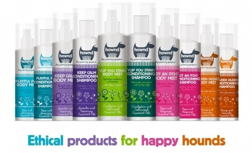 Hownd shampoos - met VEGAN en CRUELTY FREE label.