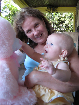 Dottie with one of her granddaughters
