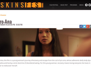 Festival Update: Pro-Ana invited to screen in 9th Annual LA SKINS FEST