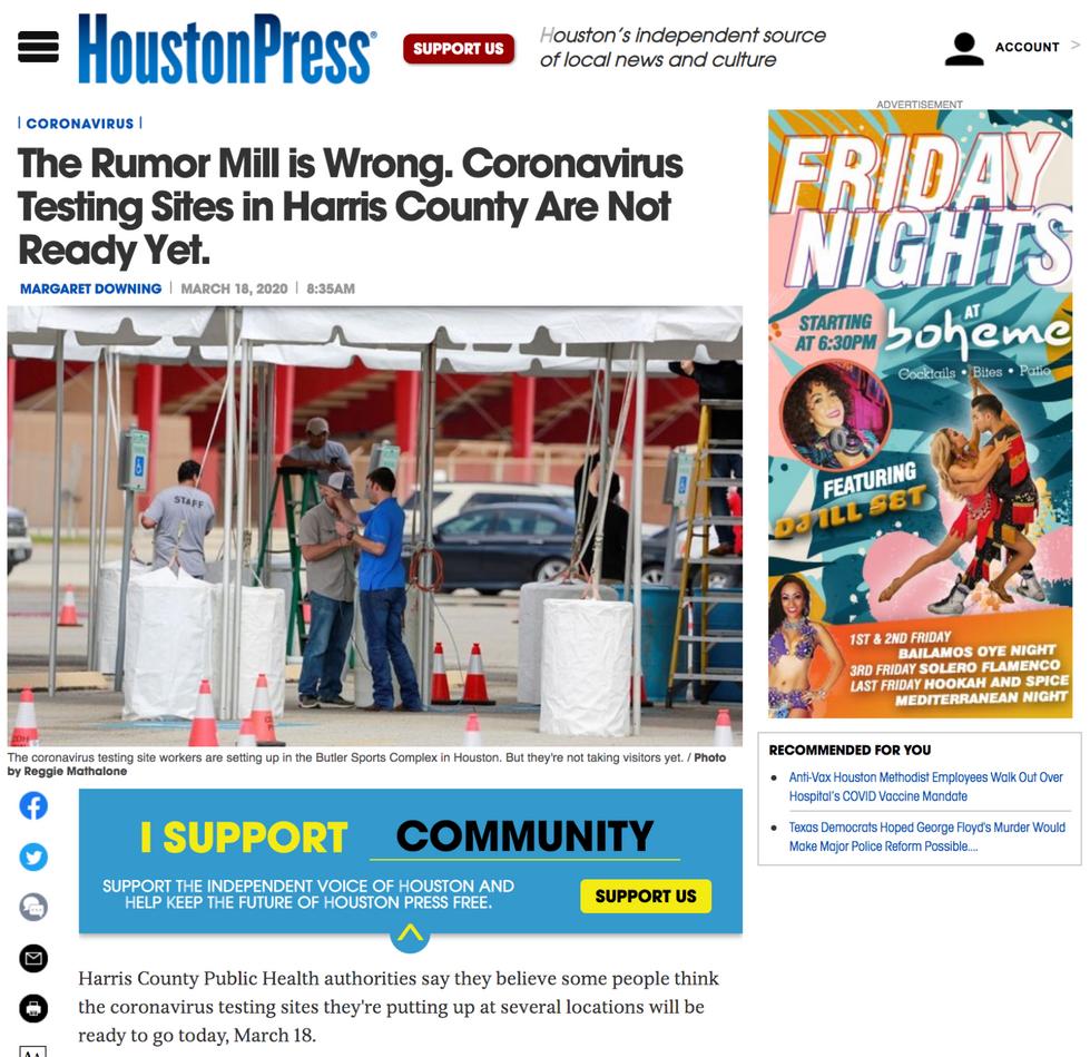 Houston Press // March 18th, 2020