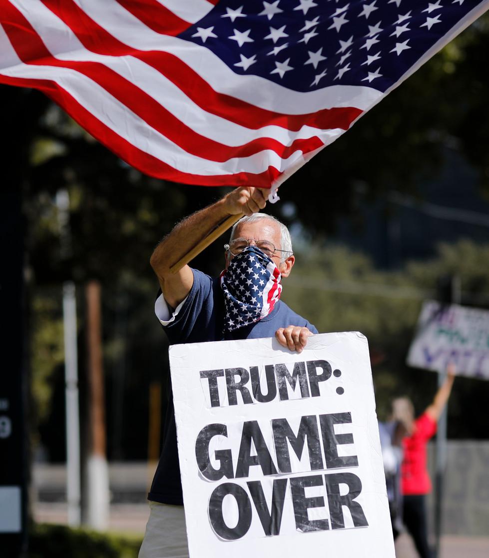 Protestor on Election Day // 2020 - Houston Press