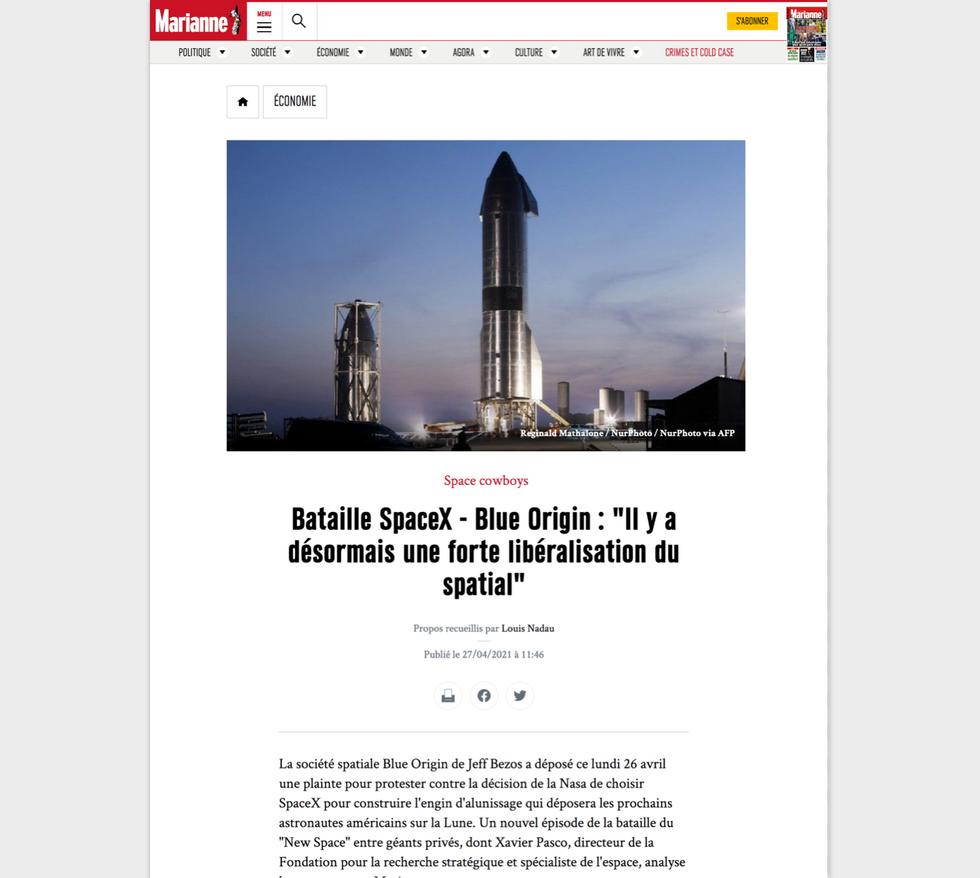 Marianne Magazine // April 27th, 2021