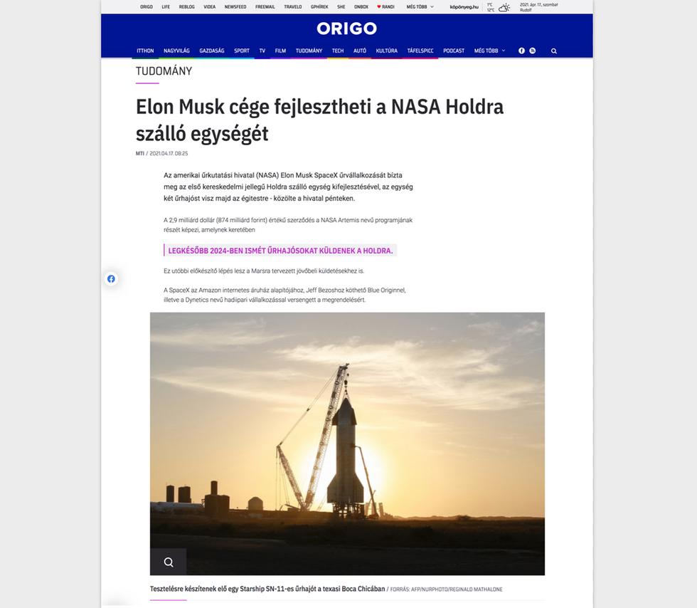 ORIGO // April 17th, 2021