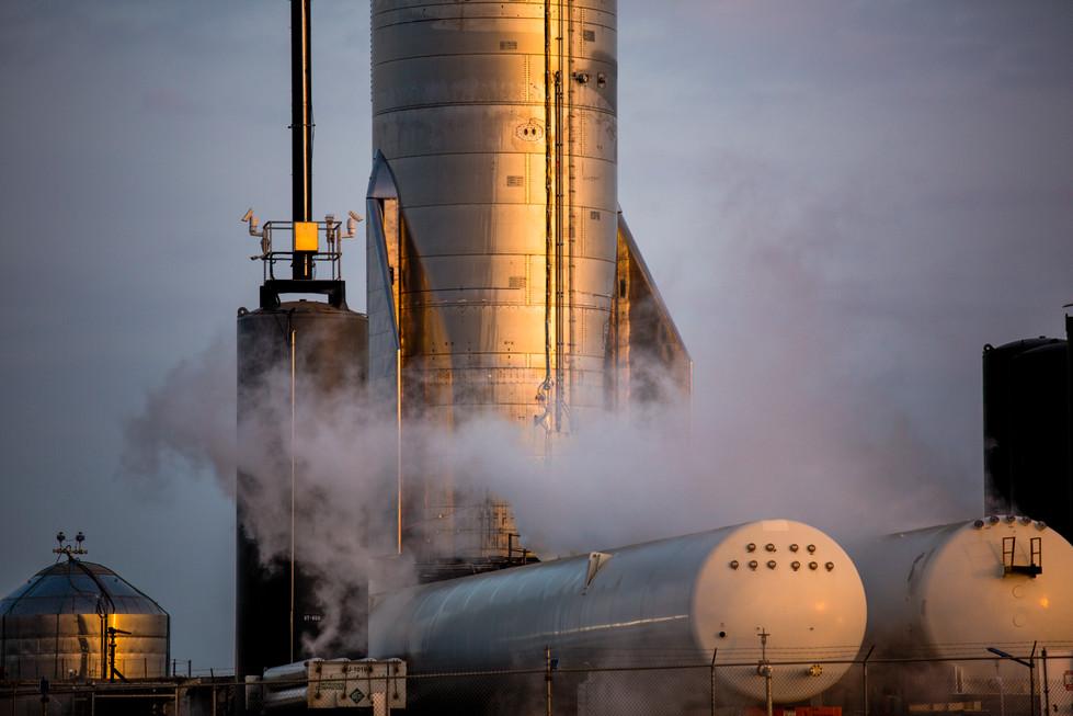 SpaceX Starship SN-10 Cryogenic Proof Test - NurPhoto // 2021
