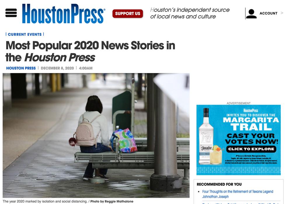Houston Press // December 8th, 2020