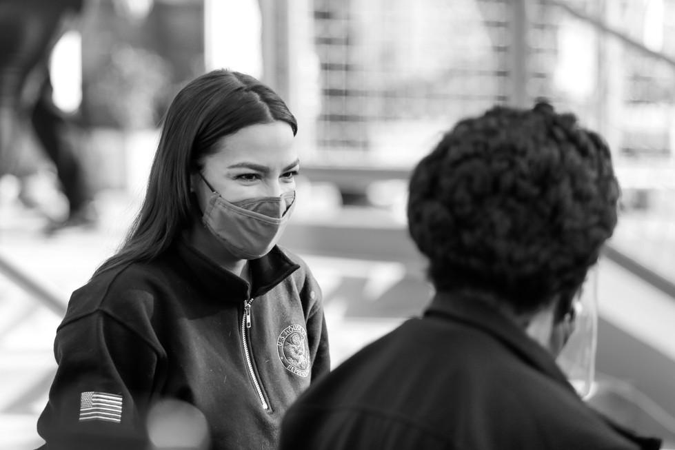 Alexandria Ocasio-Cortez Speaks to Sheila Jackson Lee - NurPhoto // 2021