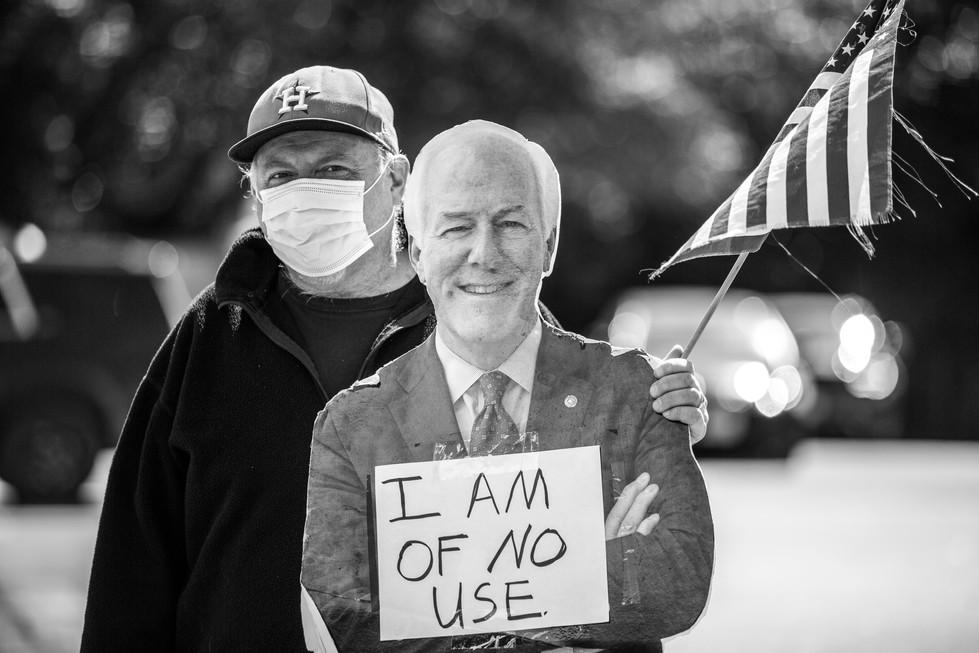 Protest Outside Senator John Cornyn's Office // 2021