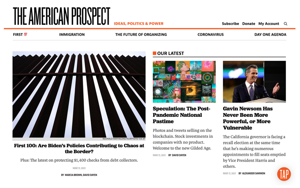 The American Prospect // March 17th , 2021