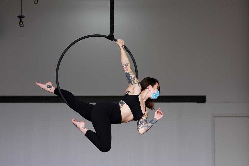 Lindsay Maxfield Rehearses in Her Studio // 2021