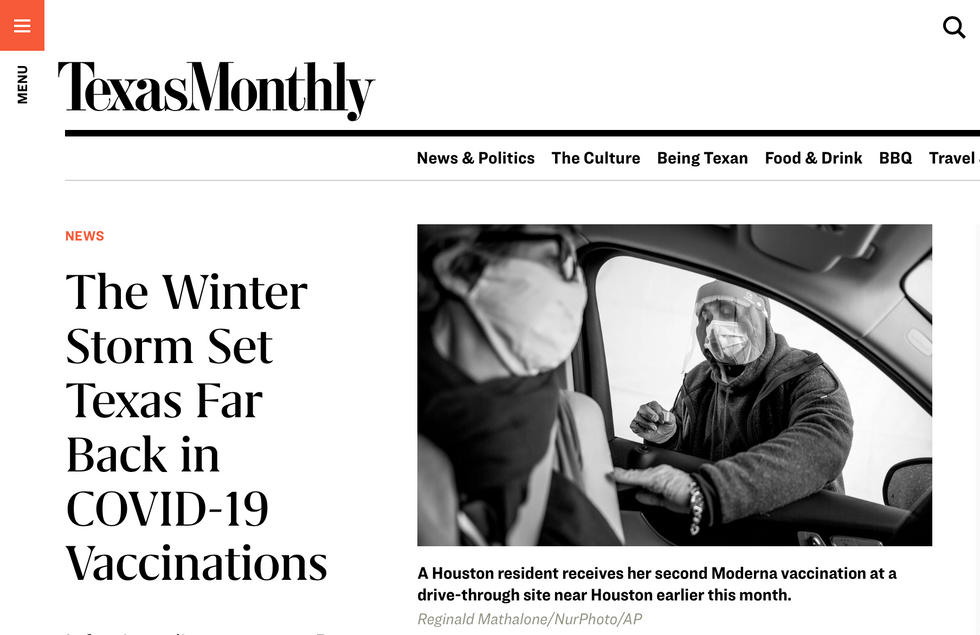 Texas Monthly // February 22nd, 2021