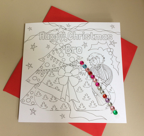 colour your own christmas card for your brother