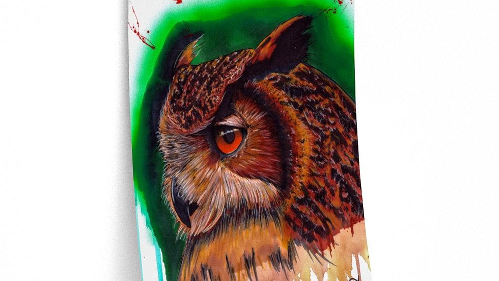 Great Horned Owl Print Premium Matte Finish