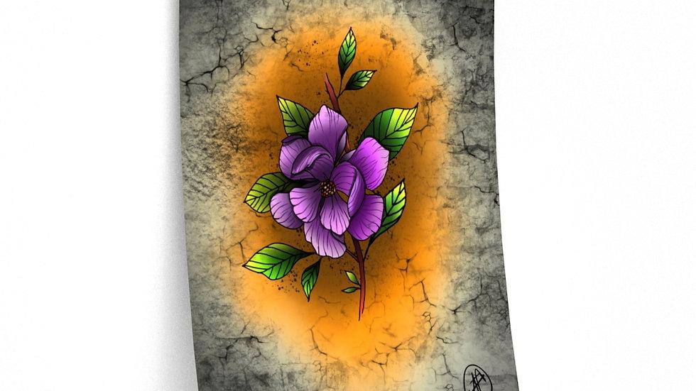 Magnolia Flower Print Premium Matte Finish