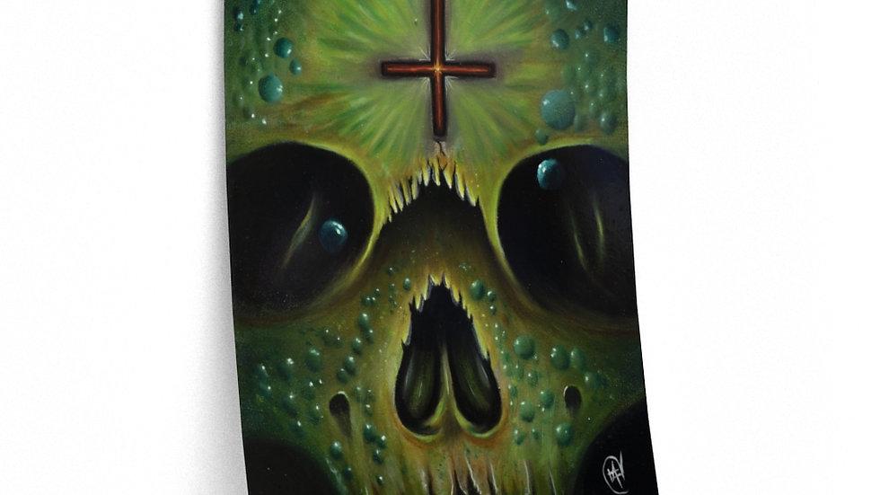 Green Skull Print Premium Matte Finish