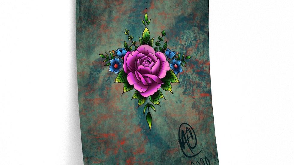 Peony Flower Print Premium Matte Finish