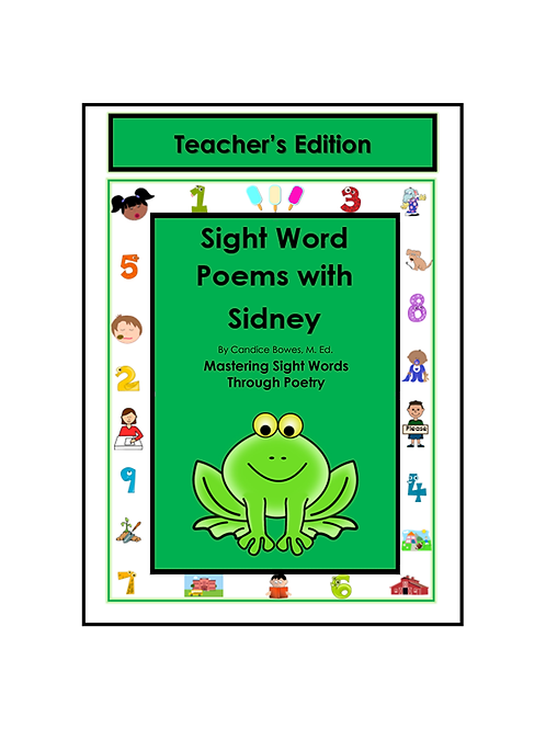 Sight Word Poems with Sidney - Teacher's Edition