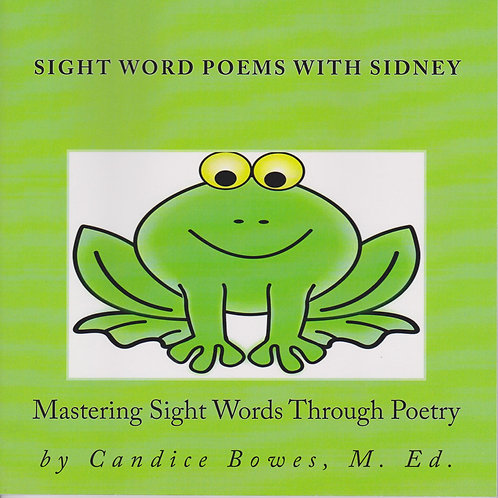 Sight Word Poems with Sidney - Storybook Edition