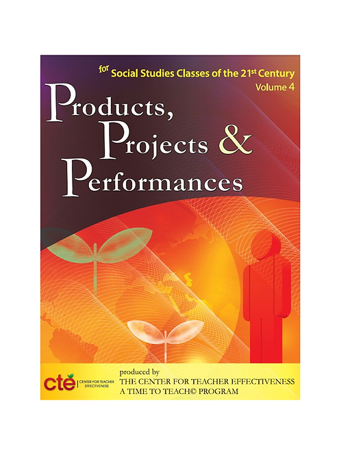 Products, Projects, and Performances - Social Studies