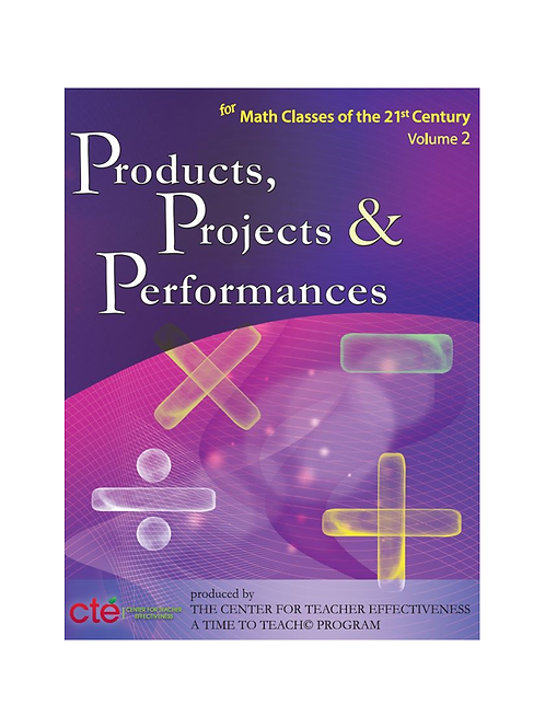 Products, Projects, and Performances - Math