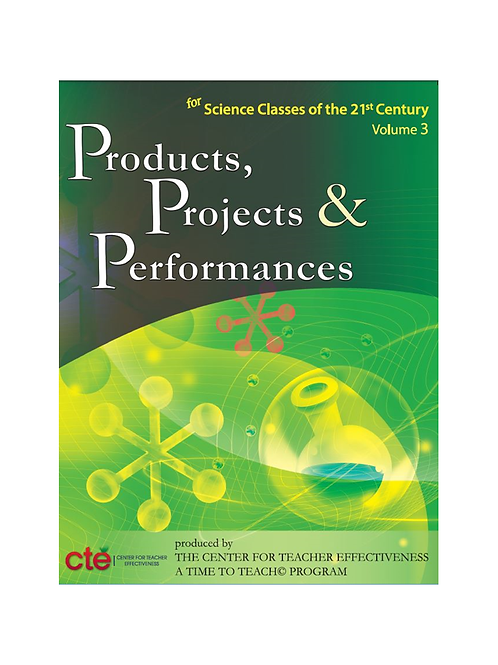 Products, Projects, and Performances - Science