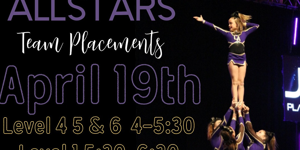 2021-2022 TEAM PLACEMENTS