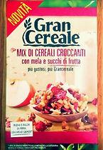 GRAN CEREALE Mix di cereali croccanti con mela e succhi di frutta