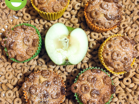 Apple & honey hoops muffins
