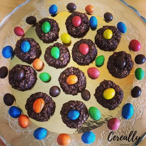 Chocolate Oatmeal Gem Cookies