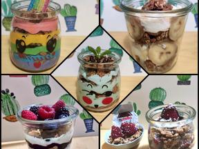 Greek yogurt & granola parfaits (5 ways!!)