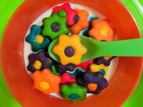 Sugar cookie flower cereal