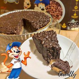 Double chocolate crunch pie