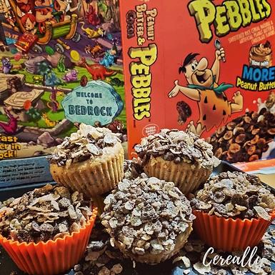 Peanut Butter & Cocoa pebbles surprise muffins!