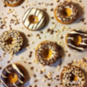 24 - Black & White Crispy baked donuts -