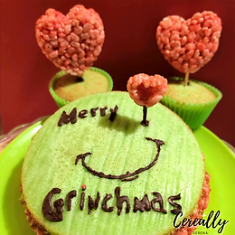 The Grinch crispy cakes