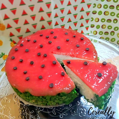 Rice Krispies Watermelon cheesecake