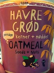 HAVRE GRØD kerner + nødder