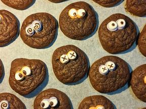 Monster brownie cookies
