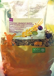 ORGANIC CRUNCHY MUESLI With Raisins And Coconut