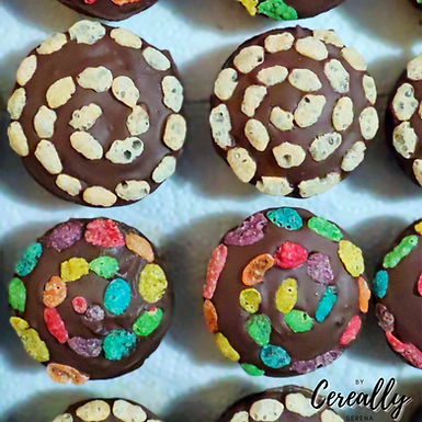 Cereal swirl mini muffins