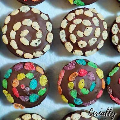 Cereal swirl mini muffins