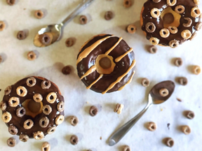 Chocolate & Peanut Butter baked donuts
